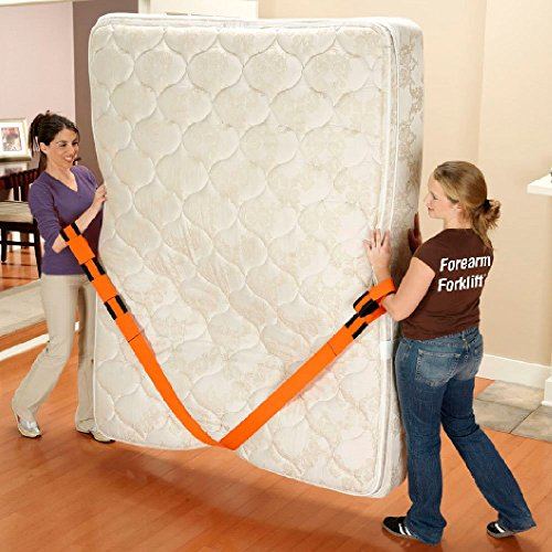 Forearm Forklift Lifting and Moving Straps for Furniture, Appliances, Mattresses or Heavy Objects up to 800 Pounds 2-Person, Made in USA, Orange, Model L74995 by Forearm Forklift (Image #4)