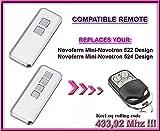 Novoferm Mini-Novotron 522 Design, Novoferm Mini-Novotron 524 DesignNEW DESIGN 4-channel compatible remote control, replacement transmitter, 433.92Mhz rolling code keyfob