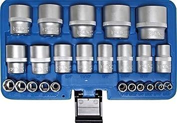 US-Car Satz 11 tlg Sechskant Zölliges Werkzeug 1//4 Zoll SAE Stecknüsse