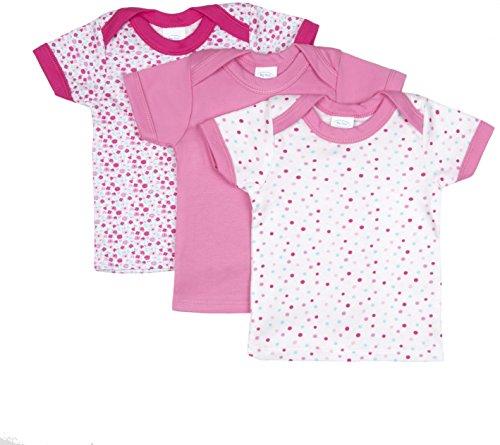 Big Oshi Baby 3 Pack Lap Shoulder Crewneck Undershirt T-Shirts - PLK-803 - Pink, 6-9 Months
