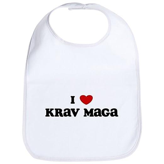 819d615fb Amazon.com: CafePress - I Love Krav Maga - Cute Cloth Baby Bib ...
