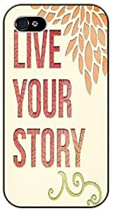 Live your story - iPhone 5 / 5s black plastic case / Life and dreamer's quotes