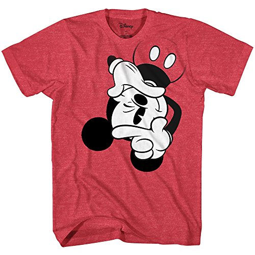 Mickey Mouse View Finder Classic Vintage Licensed Men's Graphic T-Shirt (Red Heather, X-Large)