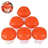 Silicone Micro Egg Cooker 6 Pieces Poacher BPA Free - Soft