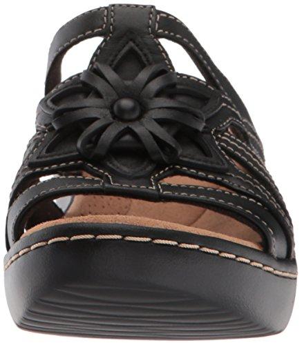 best place discount pictures CLARKS Women's Delana Venna Platform Black Leather clearance reliable GM7ecw