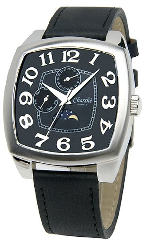 Charshe Jumbo Chronograph Watch Collection With Black Leather BB by A1-Tech