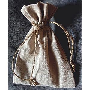 12 Small Linen Favor Bags 5x7 - Excellent Home Decor - Outdoor Indoor 74