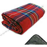 Jumbo Picnic Rug 300 x 220cm With Waterproof Backing (Red)