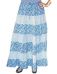 Maple Clothing Womens Cotton Gypsy Bohemian Full Maxi Long Indian Skirt
