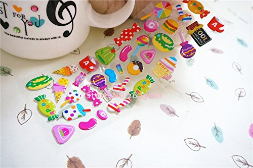 Puffy Stickers For Kids - New Real Pegatinas 1pcs/new Sweet Candy Lollipop Children Fun Stickers 17*7cm Colorful Childhood Stereo Sticker - Puffy - California Candyland