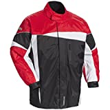 Tour Master Defender 2.0 Men's Street Bike Racing Motorcycle Rainsuit - Black/Red X-Large