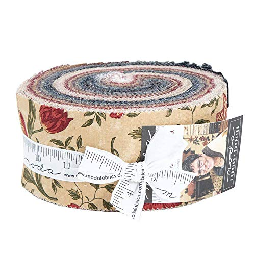 On Meadowlark Pond Jelly Roll 40 2.5-inch Strips by Kansas Troubles Quilters for Moda Fabrics 9590JR