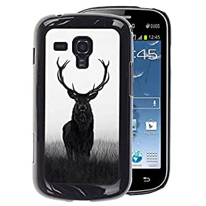 A-type Arte & diseño plástico duro Fundas Cover Cubre Hard Case Cover para Samsung Galaxy S Duos S7562 (Deer Antlers Hunter Hunting Spring Majestic)