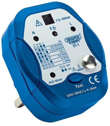 Draper ST-1 13 A Expert Socket Tester, Blue