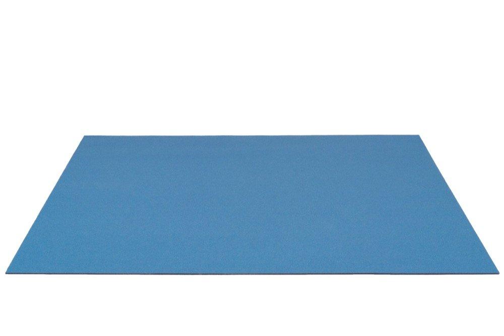 Schreibunterlage XXL 100% Wollfilz Schreibtischunterlage 3mm Mittelblau [Auswahl Größe] Filz Unterlage Matte Schreibtisch Tisch Rob&Raf (60cm x 90cm)