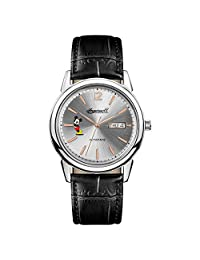 Ingersoll Men's Automatic Stainless Steel and Leather Casual Watch, Color:Black (Model: ID00201)