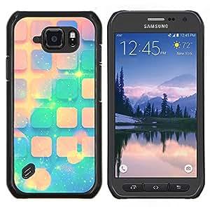 Stuss Case / Funda Carcasa protectora - Teal Espacio melocotón Estrellas Universo Patrón - Samsung Galaxy S6 Active G890A
