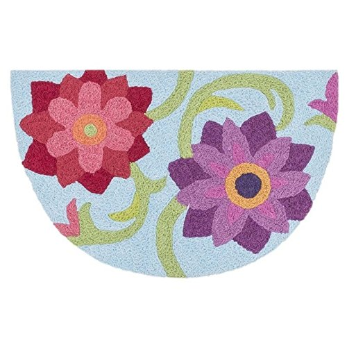 Loloi Rugs ANGEHAN07LBBY193H Angelou Collection Hearth Transitional Area Rug, 1-Feet 9-Inch by 2-Feet 9-Inch, Light Blue/Berry