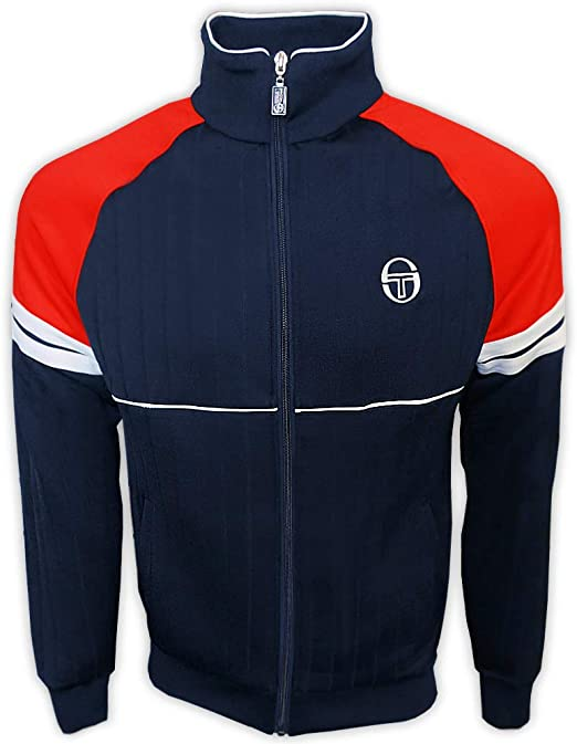 Sergio Tacchini Orion Navy Track Top Rétro Casual Homme