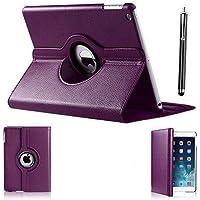 Apple iPad Mini / iPad Mini 2 PU Leather Wallet Smart Flip Case Cover For Apple Ipad Mini /Mini 2/ Mini 3 (Purple)