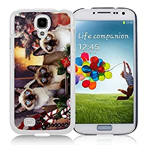 Design for Mass Customization Samsung S4 TPU Protective Skin Cover Christmas Kittens White Samsung Galaxy S4 i9500 Case 2