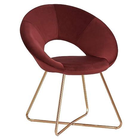 Amazon.com: Silla de sofá moderna y minimalista de tela de ...