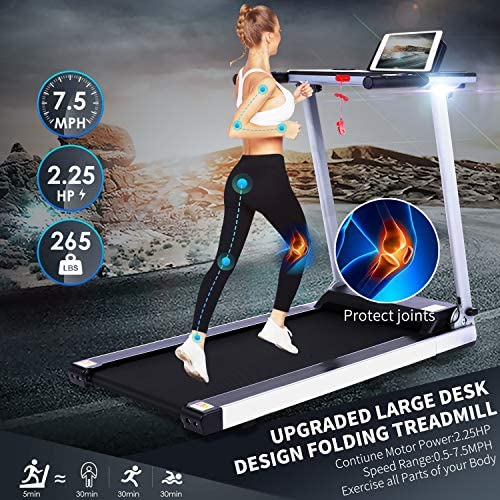 FUNMILY Folding Electric Treadmill