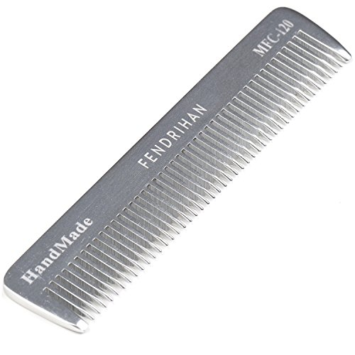 (Fendrihan Sturdy Metal Fine Tooth Barber Pocket Grooming Comb (4.6 Inches))