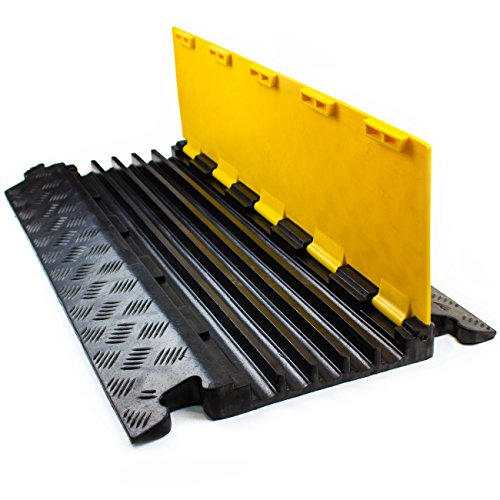 RK RK-CP-5CST1 5 Channel Modular Rubber Cable Protector Ramp (Straight) by RK