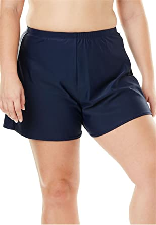 4f710f4e6256c Amazon.com: Woman Within Plus Size Loose Swim Short with Built-in Brief:  Clothing