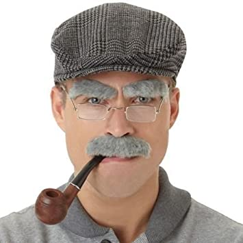 seemeinthat old man set kit cap pipe side burns and moustache   Amazon.co.uk  Toys   Games 384e355972c