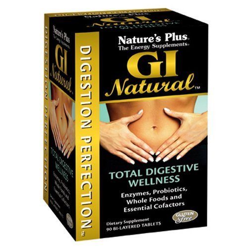Nature's Plus – GI Natural, Total Digestive Wellness, Gluten Free (1-Pack of 90)