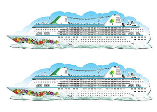 Beistle S50123AZ2, 2 Piece Jointed Cruise Ships, 6']()