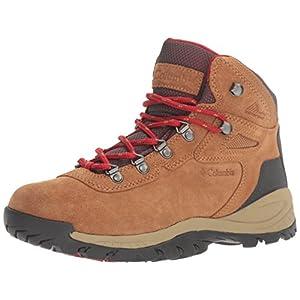 Columbia Women's Newton Ridge Plus Waterproof Amped Hiking Boot, Elk, Mountain Red, 7 B US