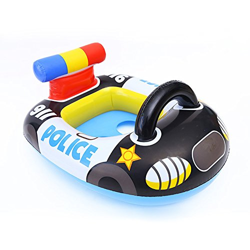 See Me Sit Inflatable Pool Ride for Kids of Age 1-5 | Kids Kiddie Pool Ride | Durable | Premium Quality | Pool Floats for Children (Police Car) ()
