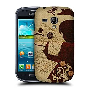 NICE CASE Girl Silhouette Snap-on Hard Back Case Cover for Samsung Galaxy S3 Mini (I8190) by ruishername