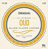 D\'Addario EJ95 Silver Plated Copper Oud String Set - Tie End