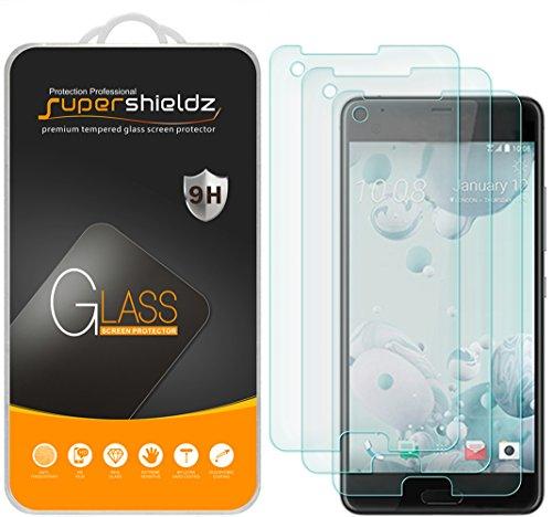 [3-Pack] Supershieldz for HTC U Ultra Tempered Glass Screen Protector, Anti-Scratch, Anti-Fingerprint, Lifetime Replacement