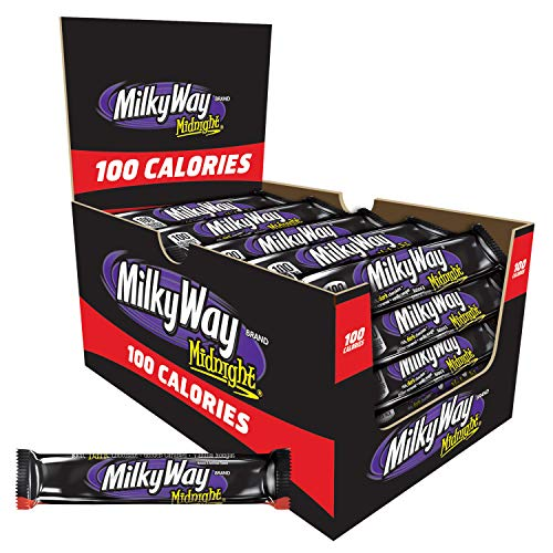 (Milky Way Midnight 100 Calories Candy Bar, Milk Chocolate, 0.77 Ounce (Pack of 24))