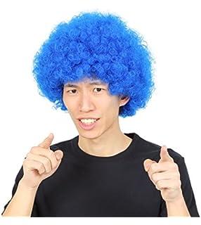 a011e54402fa5 カツランド アフロ かつら コスチューム用小物 ブルー 男女共用