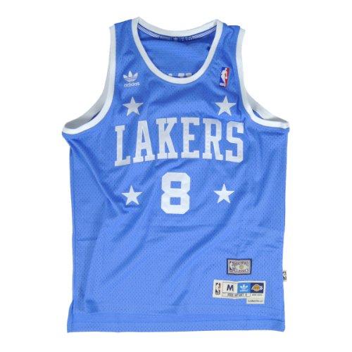 adidas Kobe Bryant Los Angeles Lakers #8 NBA Youth Hardwood Classics Soul Swingman Jersey - Blue (Youth Medium (10-12)) ()