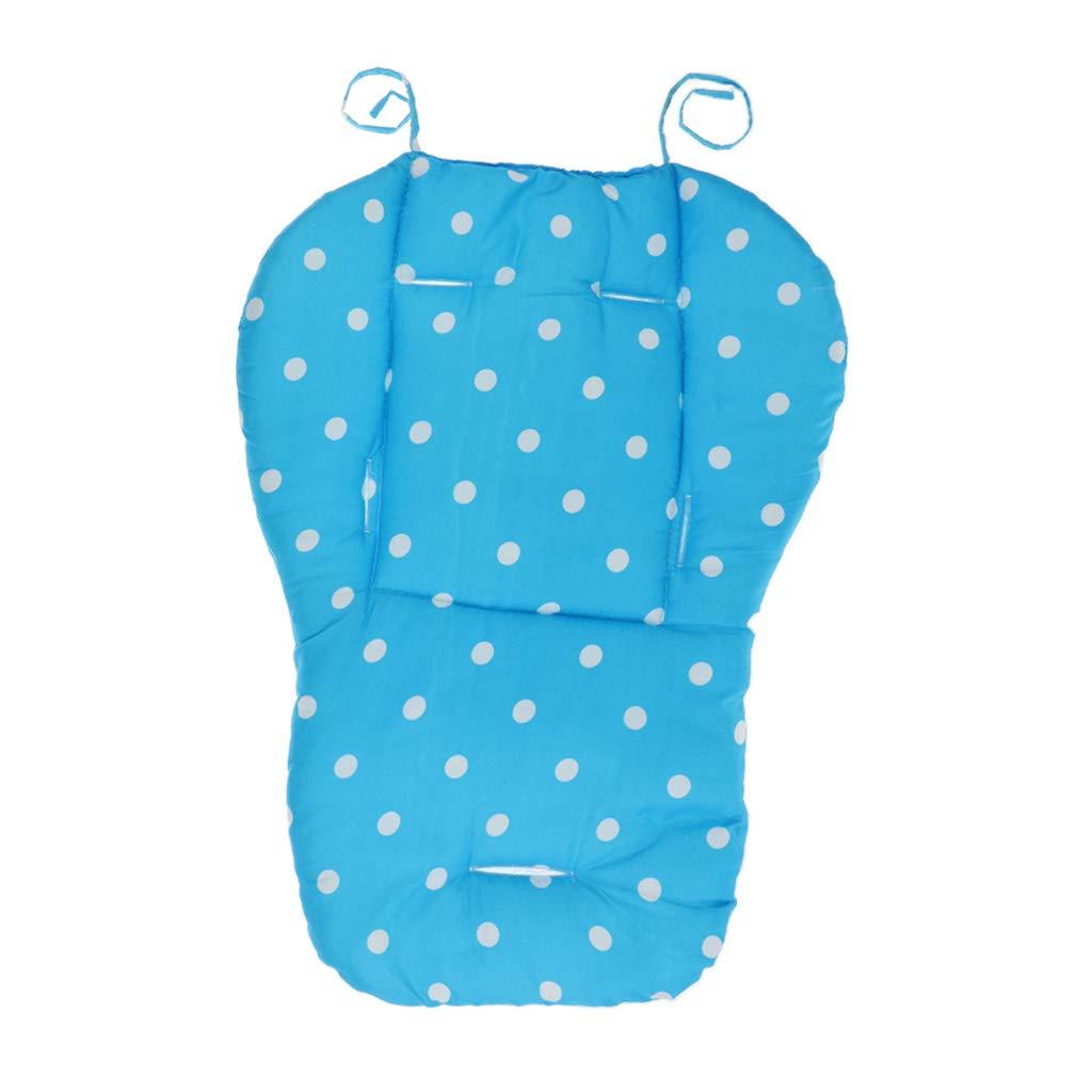 F Fityle Bébés Coussin de Siège Eté Pad Liner Housse Respirant pour Poussette Landau Voiture - Blue Dot
