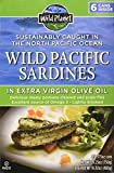 Wild Planet Wild Pacific Sardines in Extra Virgin Olive Oil 4.375 Ozs. Packed of 6