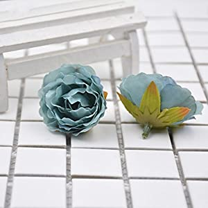 Artificial Flower Blooming Peony Silk For Wedding Party Home Room Decoration Marriage Shoe Hats Accessories Handmade 30pcs 4CM 9