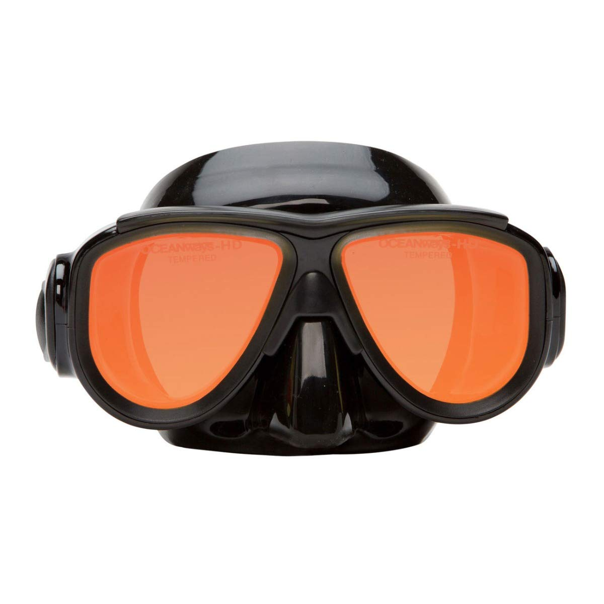SeaDive Oceanways OceanCat-HD High Definition w/Anti-UV/Glare w/Anti-Fog Scuba/Spearfishing Dive Mask (OM964BKSFF) by SeaDive