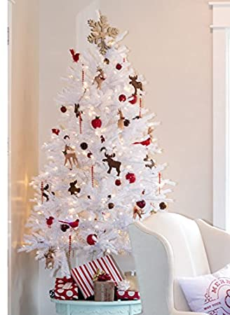 Image Unavailable - Amazon.com: KING OF CHRISTMAS 8 Foot Tribeca Spruce White Artificial