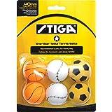 Stiga Pelotas de Tenis de Mesa de Calidad recreativa temática de 1 Estrella con regulación de tamaño 40 mm (Paquete de 6)