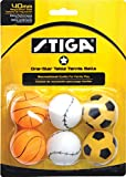 STIGA 1-Star Sports Themed Recreational-Quality Regulation Size 40mm Table Tennis Balls (6 Pack)