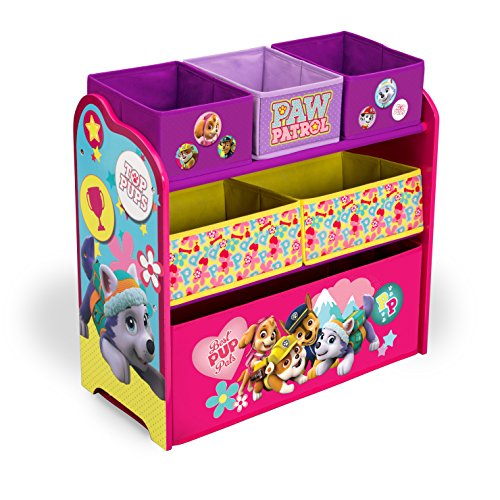 Delta Children Multi-Bin Toy Organizer, Nick Jr. PAW Patrol - Skye & Everest