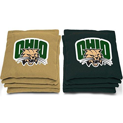 """AJJ Cornhole NCAA Ohio Bobcats Bags, 6"""" x 6"""", Green from AJJ Cornhole"""